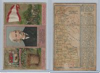 N133 Duke, State Governors, Coats of Arms Tri-Fold, 1888, Delaware, Biggs (B)