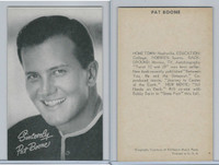 1950's Exhibit, Male Music Artists BIO Back, Pat Boone, ZQL