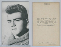 1950's Exhibit, Male Music Artists BIO Back, Fabian, ZQL