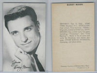 1950's Exhibit, Male Music Artists BIO Back, Barry Mann, ZQL