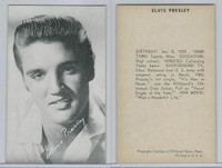 1950's Exhibit, Male Music Artists BIO Back, Elvis Presley (A), ZQL