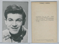1950's Exhibit, Male Music Artists BIO Back, Tommy Sands, ZQL