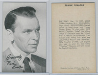 1950's Exhibit, Male Music Artists BIO Back, Frank Sinatra (A), ZQL