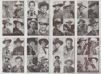 1950's Exhibit, Four n One Western Actors Set of 30 Cards, Wayne, Rogers, ZQL
