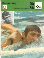 1977-79 Sportscaster Card, #01.08 Swimming, Michel Rousseau, France