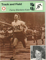 1977-79 Sportscaster Card, #01.09 Track, Fanny Blankers-Keon