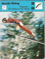 1977-79 Sportscaster Card, #01.12 Nordic Skiing