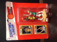 1989 Starting Lineup Basketball, One on One, Magic Johnson, Larry Bird, 97560