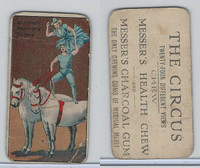 E44 Messer's Charcoal Gum, The Circus, 1910, Aerobatic Bareback Riders