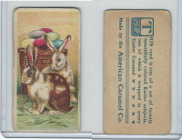 E45 American Caramel, Easter Subjects, 1920's, 2 Rabbits Easter Eggs Basket