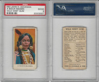 E50 Dockman, Wild West Gum, 1920's, A Sioux Maiden, PSA 2 Good