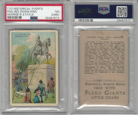 T70 ATC, Historical Events, 1910, Pull Down King George Statue, PSA 3 MK VG
