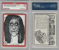 1963 Rosan W528-5, Famous Monsters, #23 The Head Shrinker, PSA 7 NM