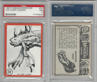 1963 Rosan W528-5, Famous Monsters, #24 The Giant Lizzard, PSA 7 NM