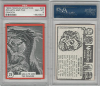 1963 Rosan W528-5, Famous Monsters, #29 Goliath & The Dragon, PSA 8 NMMT