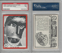 1963 Rosan W528-5, Famous Monsters, #31 The Voo Doo Man,, PSA 7 NM