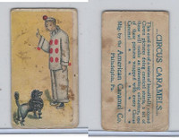 E43 American Caramel, Circus, 1911, Black Poodle With Clown