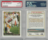 1992 Topps Gold Football, #357 Tony Mayberry, Buccaneers, PSA 10 Gem