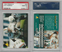 1995 Pinnacle Football, #22 Dan Marino HOF, Dolphins, PSA 10 Gem