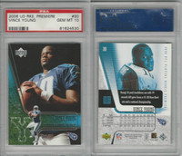 2006 Upper Deck Premiere Football, #30 Vince Young, Longhorns, PSA 10 Gem