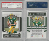 2010 Panini Classics Football, #35 Aaron Rodgers, Packers, PSA 10 Gem