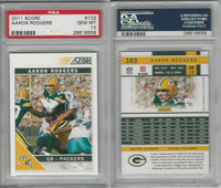 2011 Panini Score Football, #103 Aaron Rodgers, Packers, PSA 10 Gem