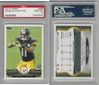 2013 Topps Football, #288 Markus Wheaton, Steelers, PSA 10 Gem