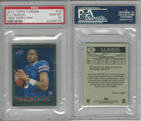 2013 Topps Chrome Football, #19 EJ Manuel, Bills, Mini, PSA 10 Gem