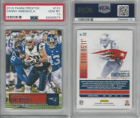 2016 Panini Prestige Football, #122 Danny Amendola, Patriots, PSA 10 Gem