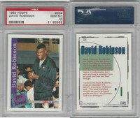 1992 Hoops Basketball, #334 David Robinson, Spurs, PSA 10 Gem