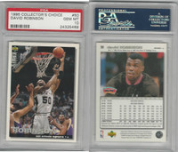 1995 Upper Deck CC Basketball, #50 David Robinson, Spurs, PSA 10 Gem