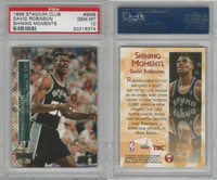 1996 Topps Stadium Basketball, #SMB David Robinson, Spurs, PSA 10 Gem