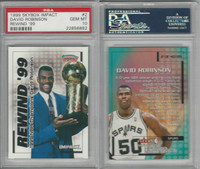 1999 Skybox Impact Basketball, #2 David Robinson, Spurs, PSA 10 Gem