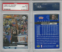 1999 Upper Deck Encore Basketball, #72 David Robinson, Spurs, PSA 10 Gem