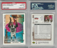 2000 Upper Deck MVP Basketball, #153 David Robinson, Spurs, PSA 10 Gem