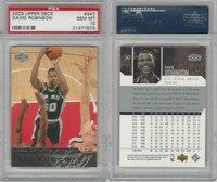 2003 Upper Deck Basketball, #247 David Robinson, Spurs, PSA 10 Gem