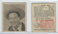 1948 Bowman, Movie Stars, #6 Monte Hale