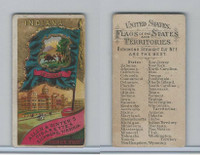 N11 Allen & Ginter, Flags of the States, 1888, Indiana (B)