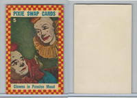 1950's Pixie, Circus Swap Cards, #5 Clowns in Pensive Mood