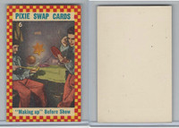 1950's Pixie, Circus Swap Cards, #6 Making Up Before Show