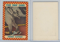 1950's Pixie, Circus Swap Cards, #15 Trained Elephant