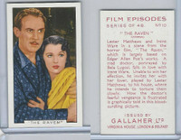 G12-84 Gallaher, Film Episodes, 1936, #10 The Raven, Lester Matthews, I. Ware