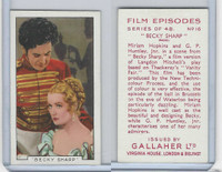 G12-84 Gallaher, Film Episodes, 1936, #16 Becky Sharp, Miriam Hopkins, Huntley