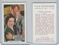 G12-84 Gallaher, Film Episodes, 1936, #25 Woman Wanted, O'Sullivan, McCrea