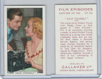 G12-84 Gallaher, Film Episodes, 1936, #26 Calm Yourself, Robert Young, M Evans