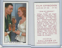 G12-84 Gallaher, Film Episodes, 1936, #32 Star Midnight, Ginger Rogers, Powell