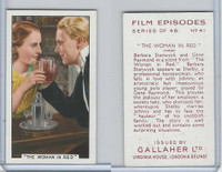 G12-84 Gallaher, Film Episodes, 1936, #41 Woman In Red, Barbara Stanwyck