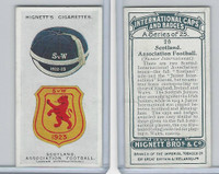 H44-35 Hignett, International Caps & Badges, 1924, #20 Scotland Football