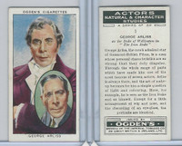 O2-123 Ogdens, Actors Natural & C. Studies, 1938, #1 George Arliss