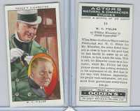 O2-123 Ogdens, Actors Natural & C. Studies, 1938, #14 W.C. Fields